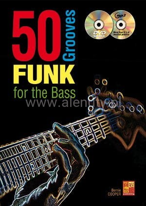 50 Funk Grooves For The Bass (+ płyta CD i płyta DVD) - Cooper - nuty na gitarę basową