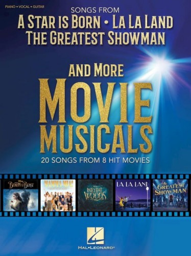 Songs from A Star Is Born, La La Land, The Greatest Showman and More Movie Musicals (PVG) - piosenki z musicali - melodia, nuty na fortepian, akordy gitarowe i słowa