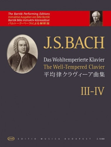 Bach J.S. - The Well-Tempered Clavier III-IV - The Bartok Performing Editions - nuty na fortepian