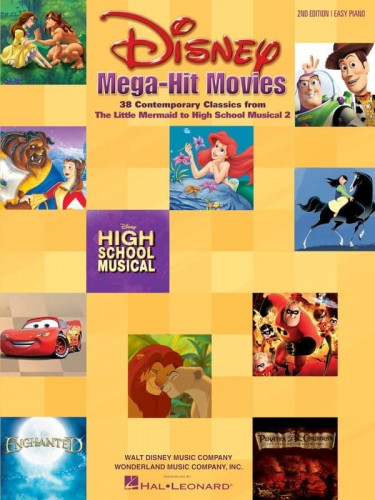 Disney Mega Hit Movies: For Easy Piano - piosenki z bajek Disneya - łatwe nuty na fortepian