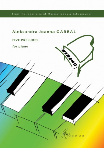 Five preludes for piano - nuty na fortepian - Garbal