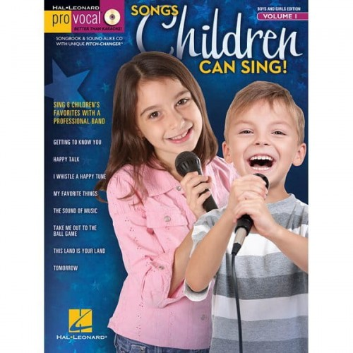 Pro Vocal Boys & Girls Edition Volume 1 - Songs Children Can Sing! - nuty na głos z tekstem i akordami gitarowymi (+ płyta CD)
