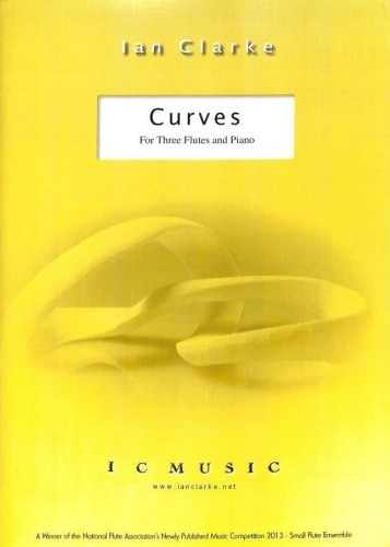 Ian Clarke - Curves for three flutes and piano - nuty na trzy flety poprzeczne i fortepian