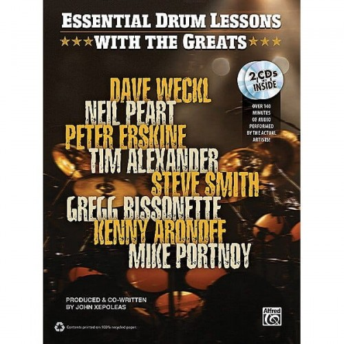 Essential Drum Lessons with The Greats (+ 2 płyty CD) - lekcje gry na perkusji z gwiazdami