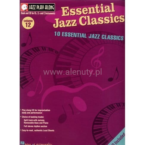Essential Jazz Classics Jazz Play Along Volume 12 - na instrumenty C, Eb, Bb (+ płyta CD)