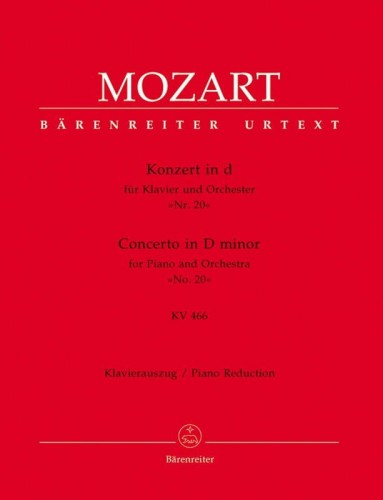 Mozart: Concerto D minor for Piano and Orchestra no. 20 (KV 466) - koncert fortepianowy d-moll - wyciąg fortepianowy
