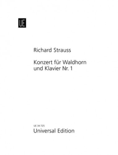 Strauss Richard: Concerto No. 1 in Eb major for horn and piano op. 11 - koncert waltorniowy - nuty na waltornię (róg) z fortepianem
