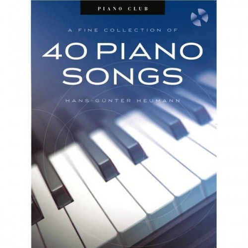 Piano Club: A Fine Selection Of 40 Piano Songs - Hans-Gunter Heumann  - nuty na fortepian (+ płyta CD)