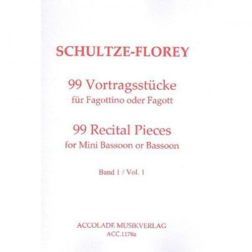 Schultze-Florey - 99 Recital Pieces for Mini Bassoon or Bassoon - część 1 (1-33) - utwory recitalowe na fagottino lub fagot