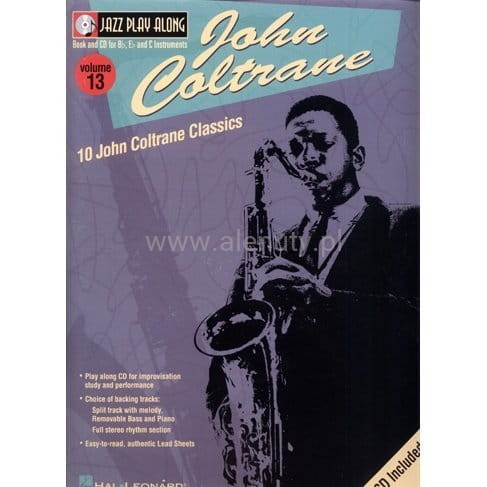 John Coltrane Jazz Play Along Vol 13 - nuty na saksofon (+ płyta CD)