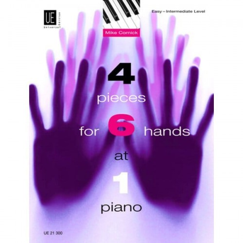 Mike Cornick - 4 Pieces for 6 Hands at 1 Piano - nuty na fortepian na 6 rąk