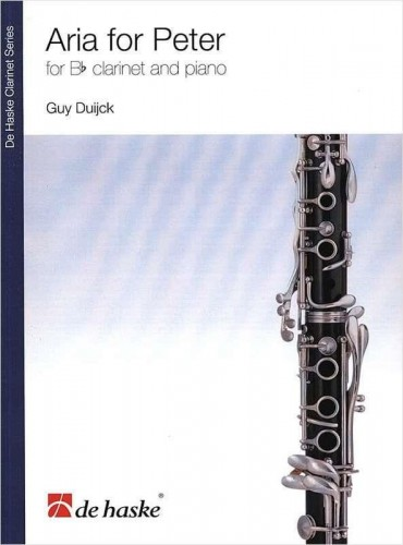Duijck: Aria for Peter for Bb clarinet and piano - nuty na klarnet z fortepianem