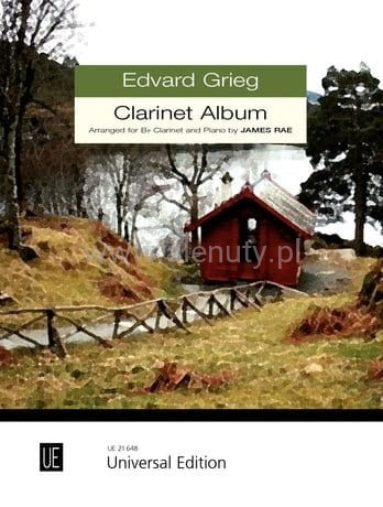 Grieg: Clarinet Album for clarinet and piano - nuty na klarnet i fortepian