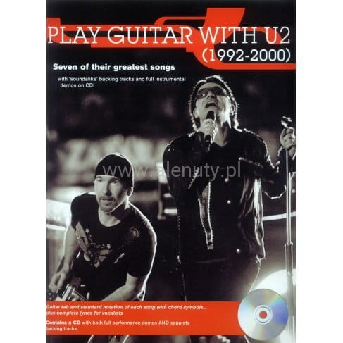 Play Guitar with U2 (1992-2000) - nuty i tabulatury na gitarę