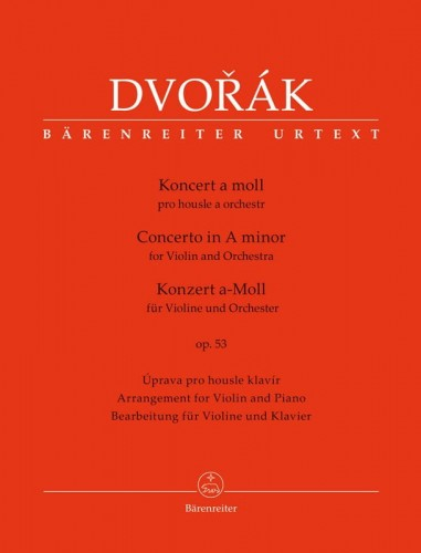 Dvorak: Concerto in A minor op. 53 for Violin and Orchestra - koncert skrzypcowy a-moll - nuty na skrzypce i fortepian