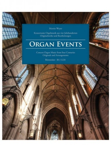 Organ Events: Concert Organ Music from four Centuries - Originals and Arrangements - nuty na organy