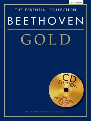 Beethoven gold nuty na fortepian